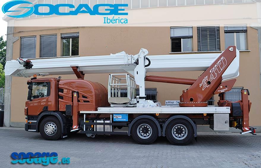 Plataformas elevadoras Socage forSte 15VTJ sobre furgón